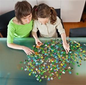 Haciendo un puzzle