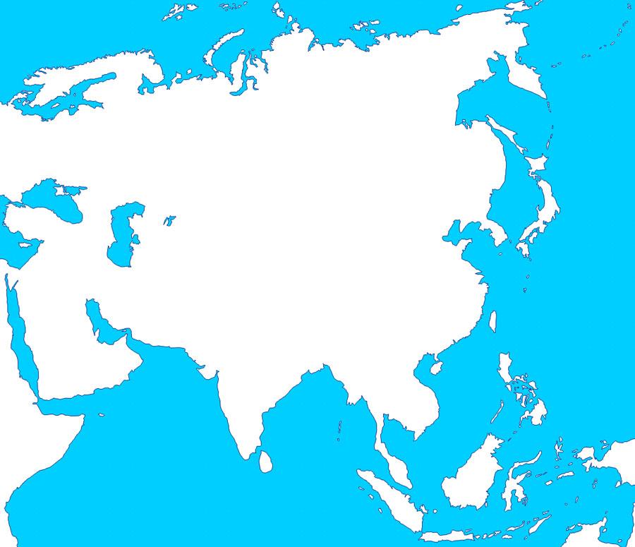 Mapas de Asia - Saberia