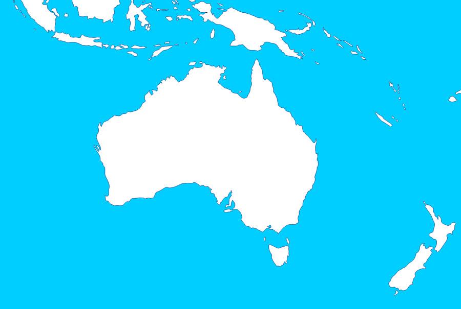 Mapas de Oceania - Saberia