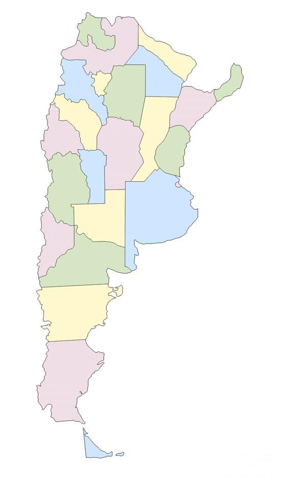 Mapa Politico De Argentina Mudo Saberia