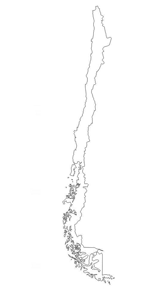 Mapa poltico de chile saberia mapa del contorno de chile sciox Choice Image