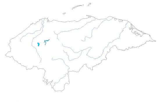 Mapa De Ríos De Honduras Mudo Saberia